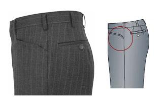 オーダーメイドパンツ,スラックス,L型(横)ポケット,イメージ