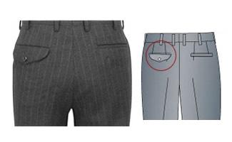 オーダーメイドパンツ,スラックス,左ポケットフラップ(ふた),イメージ