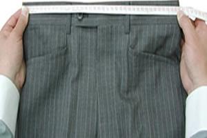 パンツ/スラックス腰回り採寸イメージ