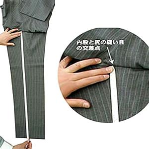 パンツ/スラックス股下採寸イメージ