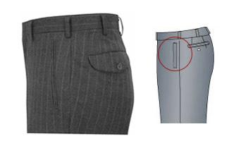 オーダーメイドパンツ,スラックス,両玉縁ポケット,イメージ